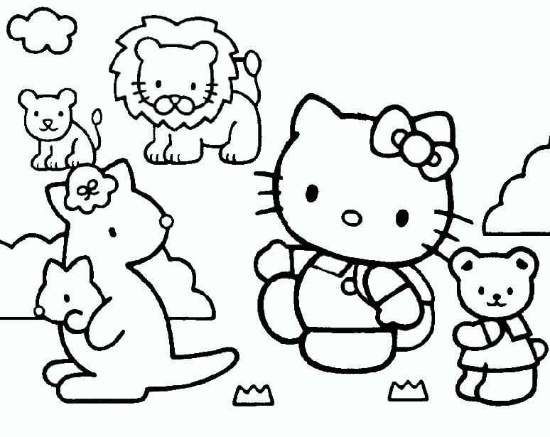 hello kitty und tiere