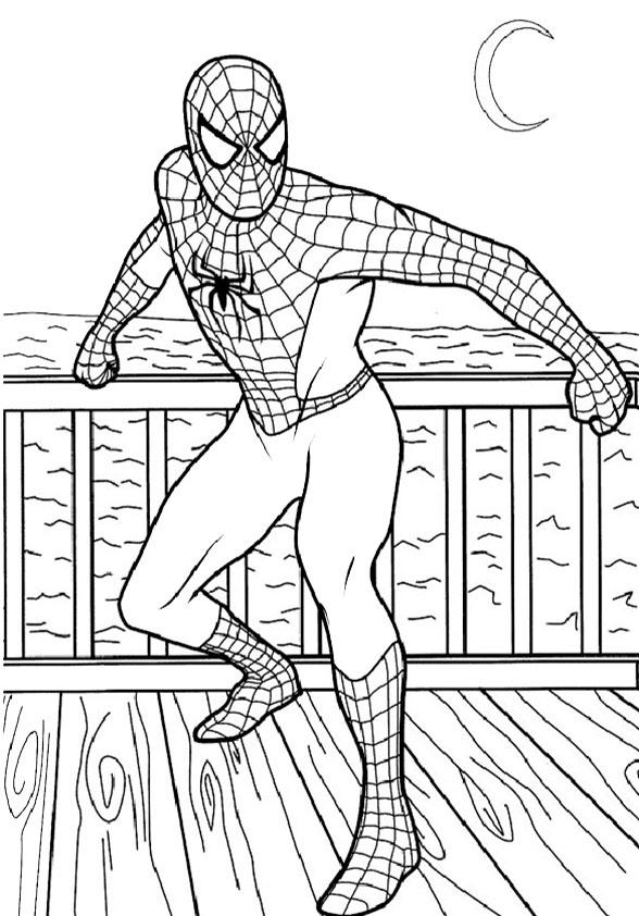 spiderman ausmalbilder drucken