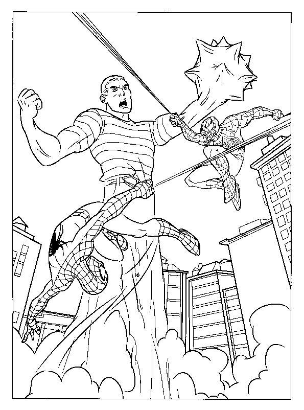 Bilder zum ausmalen Spiderman 1 | Bilder zum Ausmalen