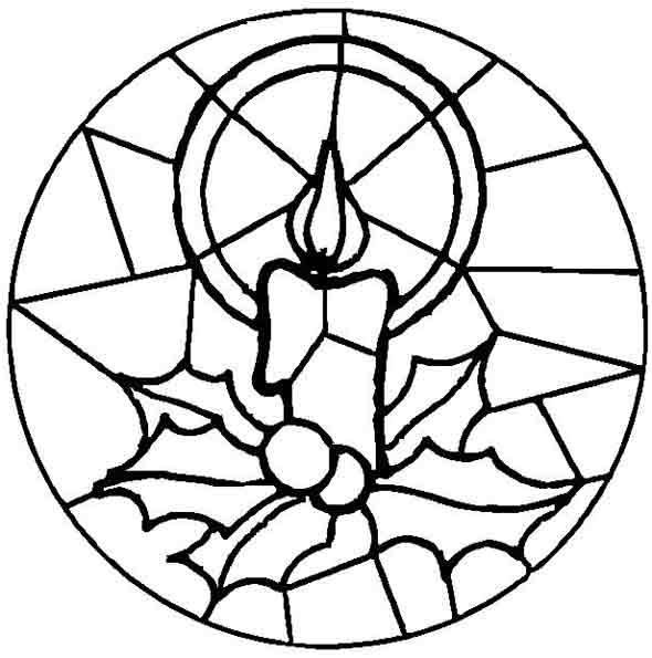 mandala mit kerze