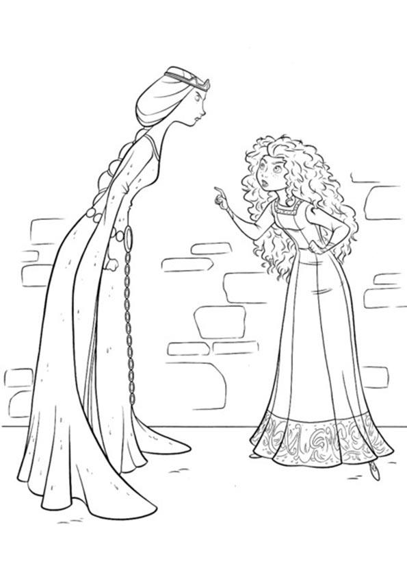 prinzessin merida und Königin Elionor