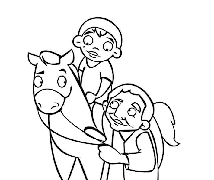 bilder zum ausmalen pferde 6
