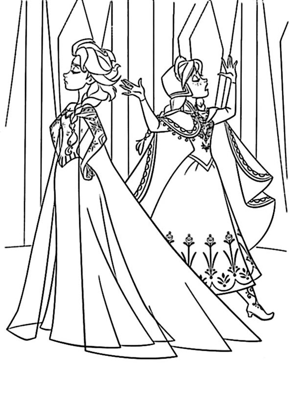 Eisk nigin elsa colouring pages
