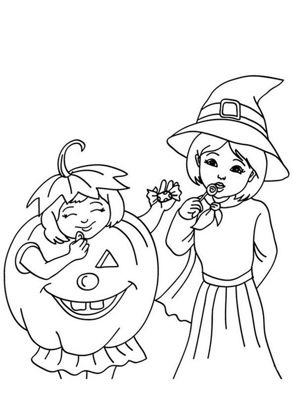 halloween 5 zum malen