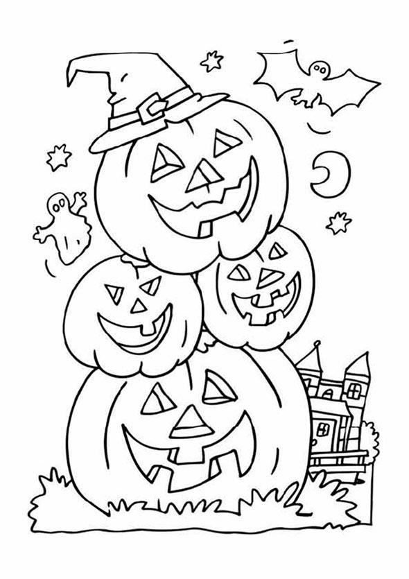 halloween 10 zum malen