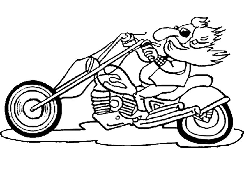 Atemberaubend Kostenlos Bedruckbare Motorrad Malvorlagen ...
