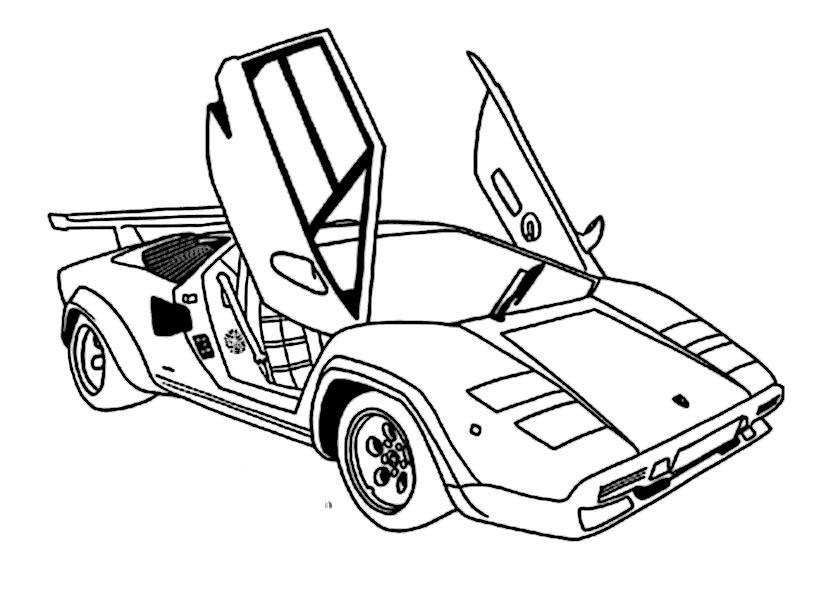bilder zum ausmalen autos 7