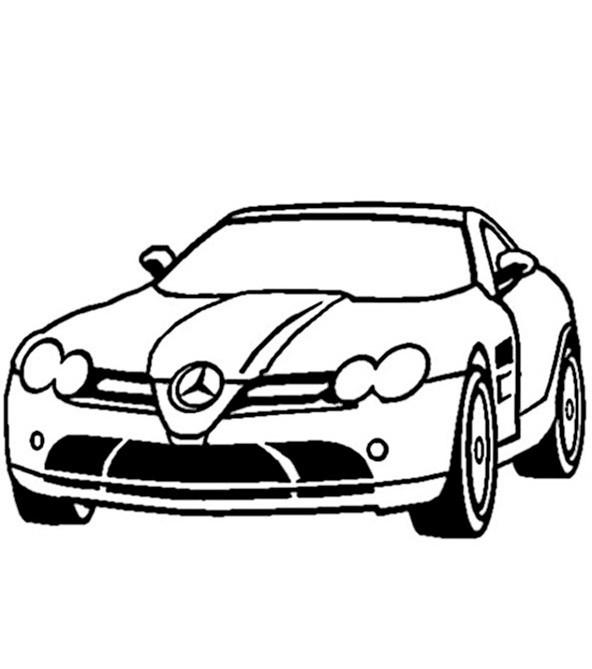 bilder zum ausmalen autos mercedes 1