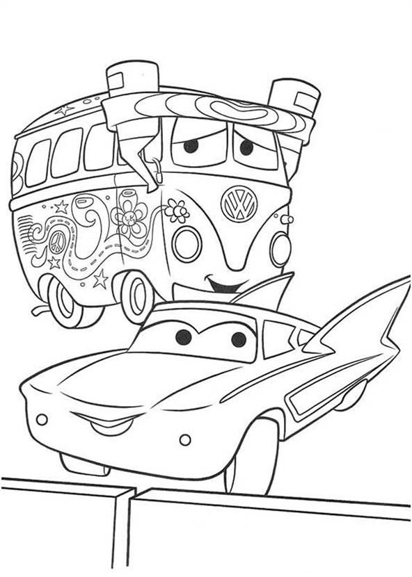 bilder zum ausmalen cars 8