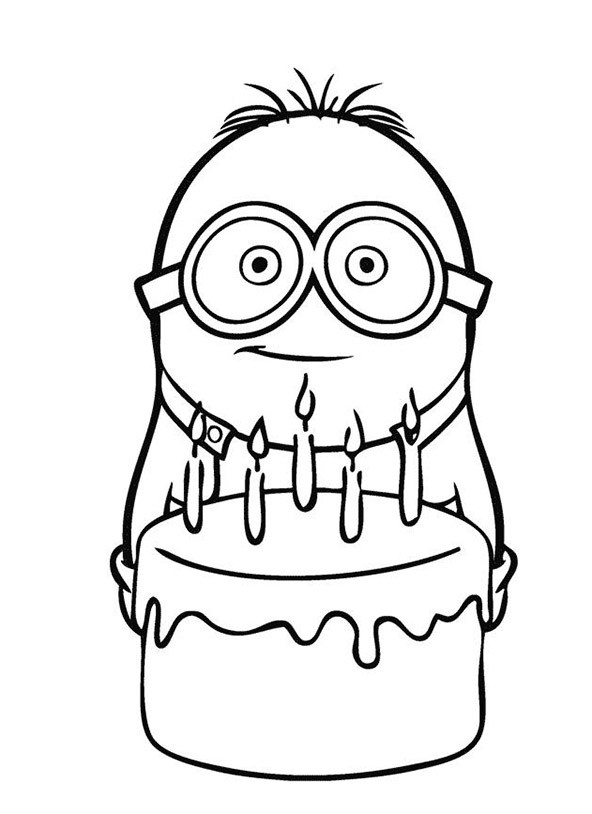Free coloring pages of banana minions