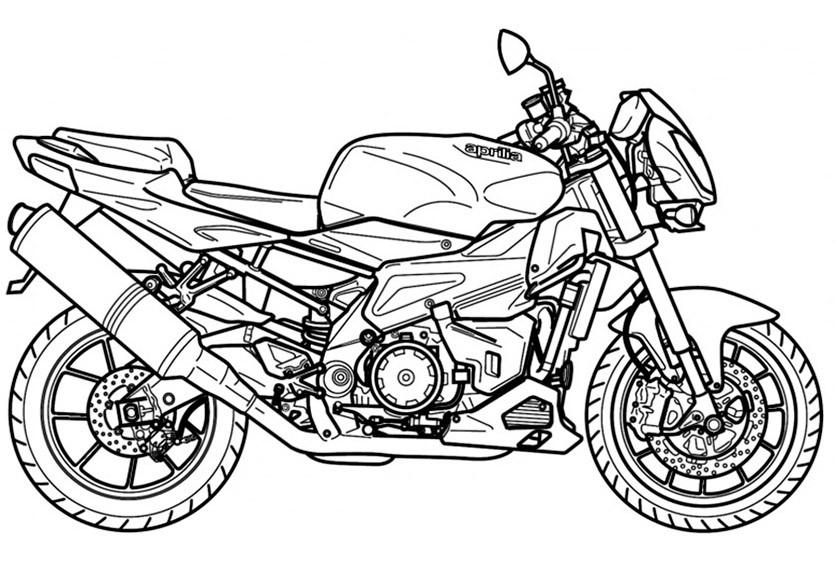 bilder zum ausmalen motorrad aprilia