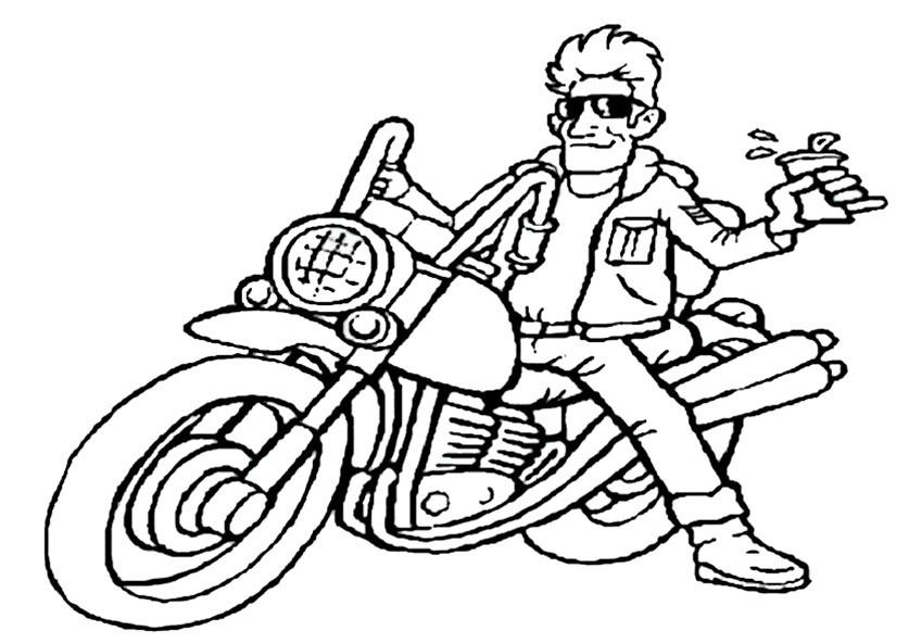 bilder zum ausmalen motorrad 14