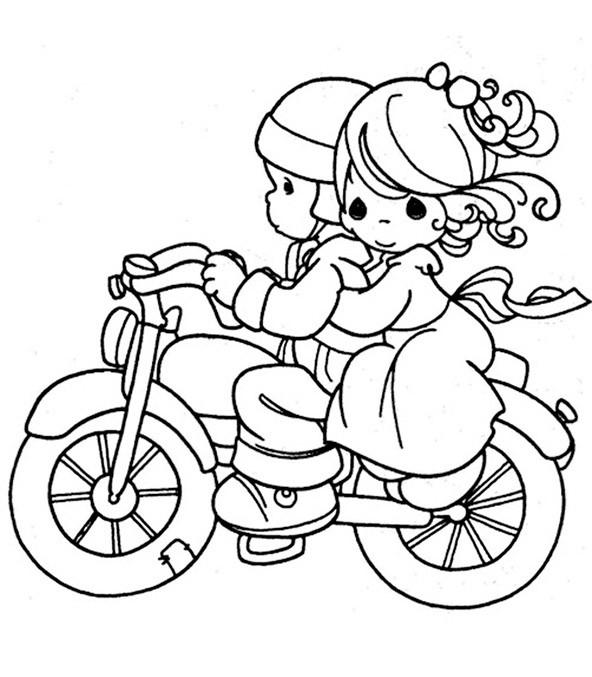 bilder zum ausmalen motorrad 4