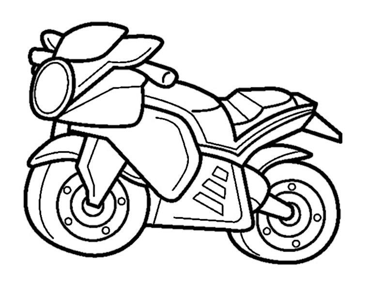 bilder zum ausmalen motorrad 5