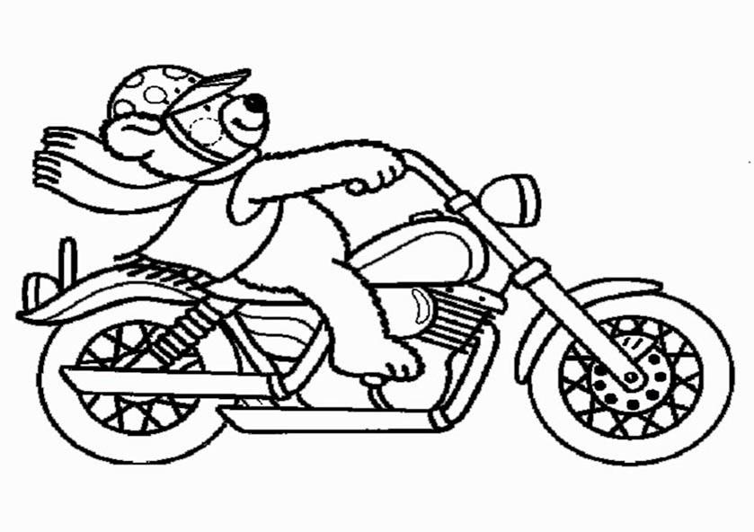 bilder zum ausmalen motorrad 6