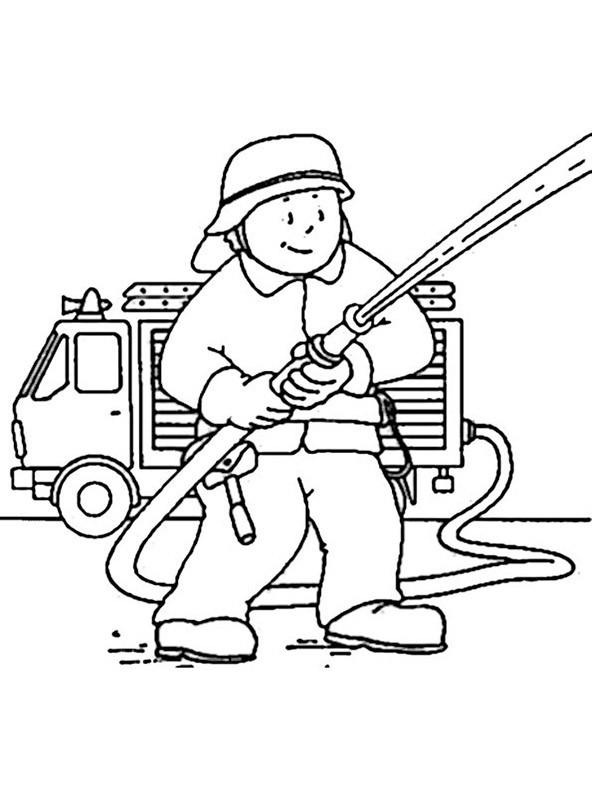 bilder zum ausmalen Feuerwehr 3