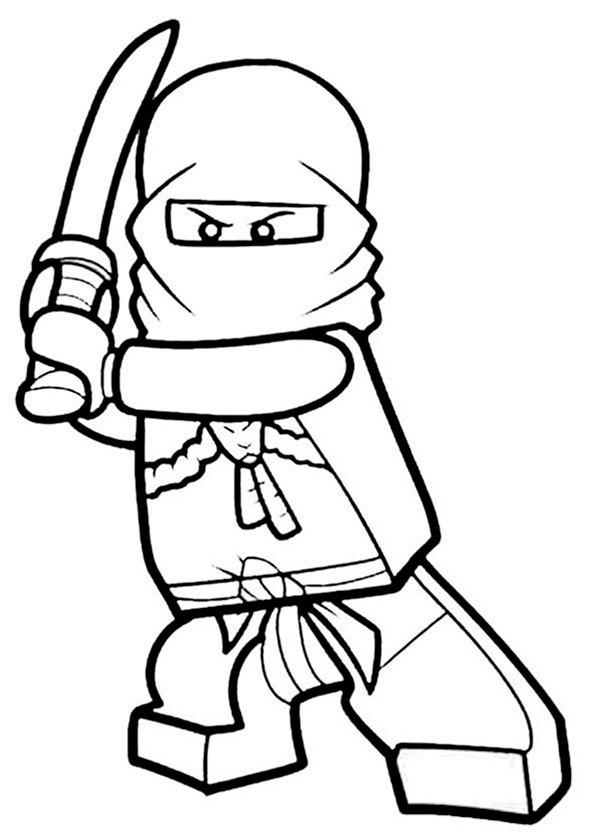 Bilder zum ausmalen Ninjago. Zeichnung 1